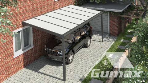 Gumax carport vooraanzicht modern antraciet klein