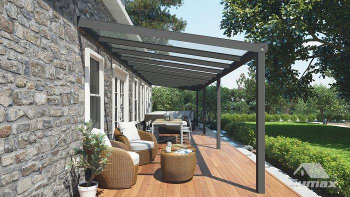Moderne Terrassenuberdachung In Matt Anthrazit 12 06 X 3 Meter Mit