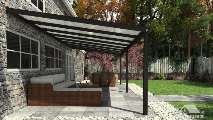 Aanleunende carport rasmus van behandeld hout m² dak van