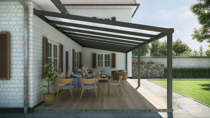 Gebogen dak aluminium carport cantilever met carport with