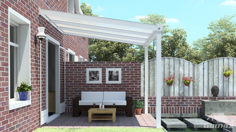 moderne terrassen berdachung in matt creme 3 06 x 3 meter. Black Bedroom Furniture Sets. Home Design Ideas