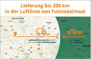Liefergebiet von Tuinmaximaal bis 200km