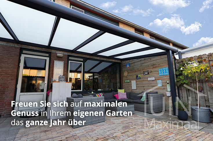 Terrassenüberdachungen Konfigurieren I Tuinmaximaal