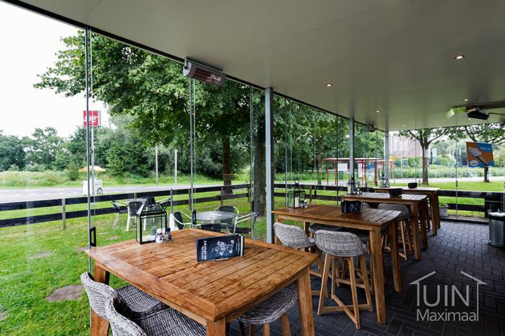 cafetaria mit glasschiebewanden gumax