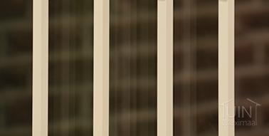 gumax zierstreifen glasschiebewande in matt creme