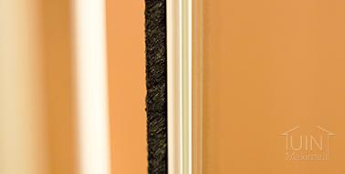 gumax zugluftstreifen glasschiebewand in creme